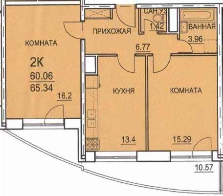 Планировка 2х комнатных квартир.